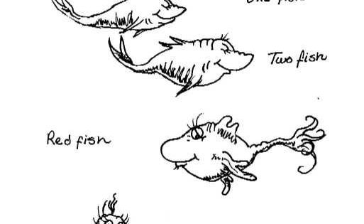 Dr seuss one fish two fish coloring pages coloring pages for One fish two fish coloring page