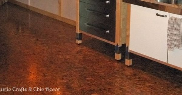 Finished Osb Flooring Is A Great Inexpensive Option Rustic Crafts Chic Decor Inexpensive Flooring Rustic Flooring Flooring