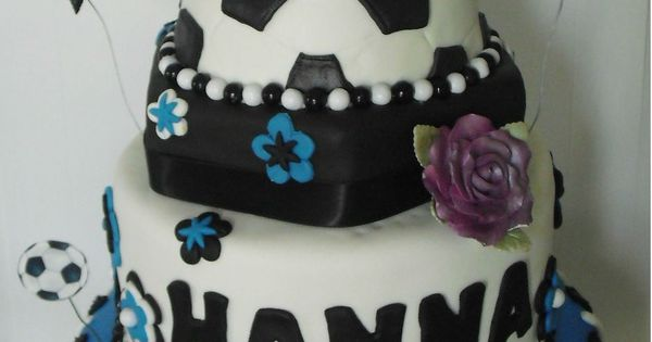 Soccer Birthday Cake - Custom Cakes by Kris