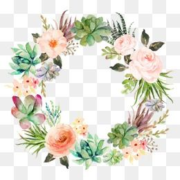 Millions Of Png Images Backgrounds And Vectors For Free Download Pngtree Wreath Drawing Floral Wreath Watercolor Watercolor Flower Wreath