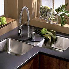 Shop Kitchen Bar Sinks At Lowes Com Modern Kitchen Sinks Corner Sink Kitchen Kitchen Sink Remodel