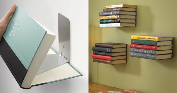 Levitating bookshelf for the home pinterest book How to make an invisible bookshelf