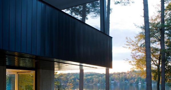 Cantilever lake house in dunmore vermont a project by brian mac vermont architects the - The elegance and functionality of cantilever architectural design ...