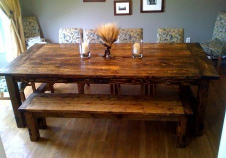 get ready j we 39 re going to build our own rustic dining. Black Bedroom Furniture Sets. Home Design Ideas