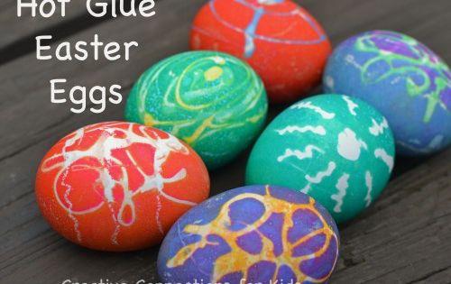 Hot Glue Gun Easter Eggs!