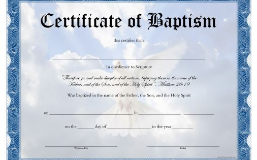 free printable baptism certificate