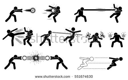 Comic Characters Special Powerful Attack These Are Super Human Releases Fireball Elastic Man With St Stick Figure Fighting Stick Figure Drawing Stick Figures