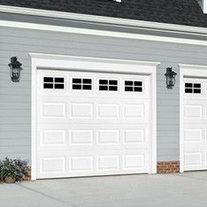 Pella Traditional 108 In X 84 In Insulated White Single Garage Door With Windows At Lowes Com Single Garage Door Garage Door Windows Exterior Garage Door