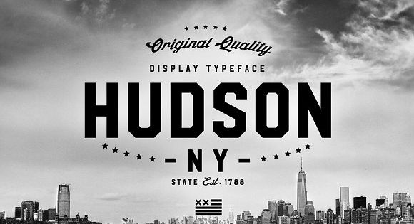HUDSON NY FAMILY – strong and bold typography