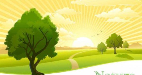Beautiful Scenery Vector Background
