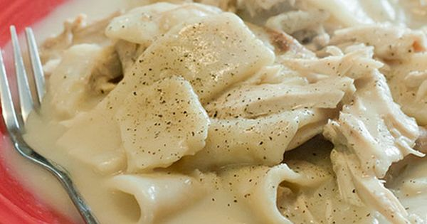 Chicken and dumplings, (Southern Style). This is comfort food at it's finest.