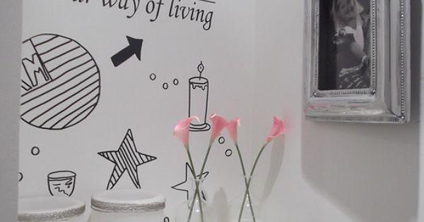 Riviera maison muurtje voor de toilet toilet pinterest badkamer wc en toiletten - Badkamer recup ...