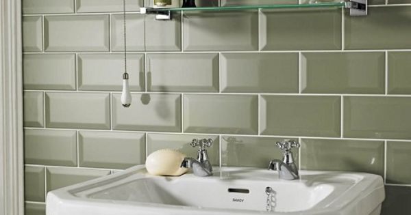 Sage Metro Tiles Homebase In The Sale At Per Pack Bathroom Makeover Pinterest