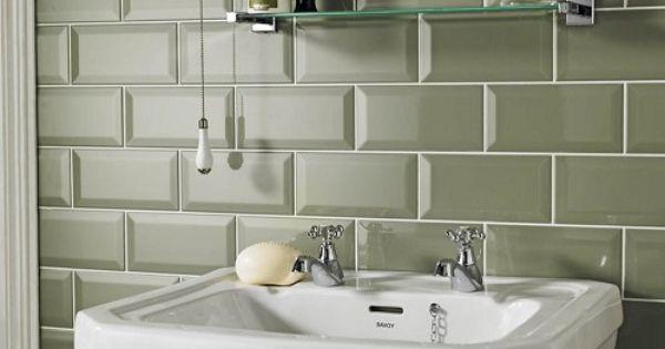 Sage metro tiles homebase in the sale at per pack bathroom makeover pinterest Bathroom tiles ideas homebase