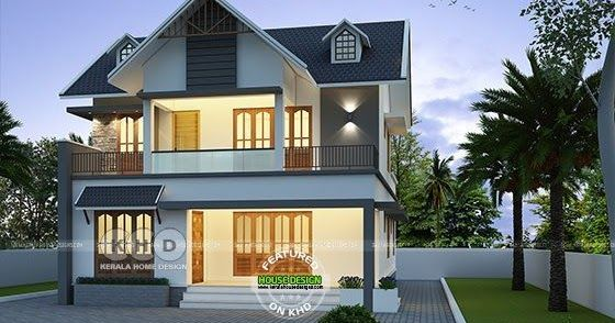 42 Lakhs Cost Estimated European Style Home In 2020 European