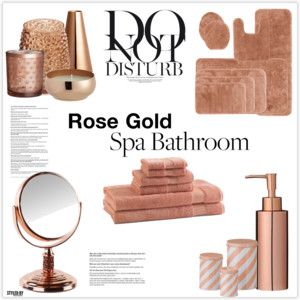 Black And Rose Gold Bathroom Accessories