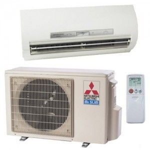 Mitsubishi Mr Slim Mini Split System Carefree Air Conditioning And Heating Heat Pump System Heating And Air Conditioning Mitsubishi Air Conditioner