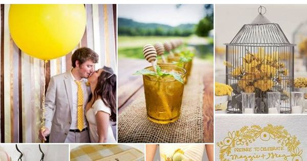 The Perfect Palette: {Sweet Country Soiree}: Shades of Yellow, Latte, Gray +