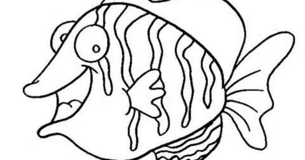 fish template | Flounder Fish Coloring Page Free Ocean ...