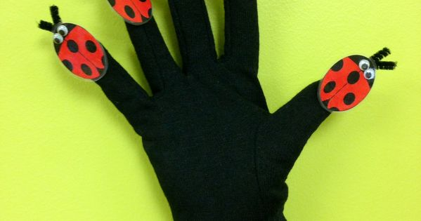 Ladybug Hand Puppet - Printable from Sunflower Storytime ...