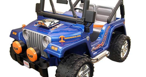 Power wheels hot wheels jeep wrangler 12 volt ride on for Hot wheels motorized jeep