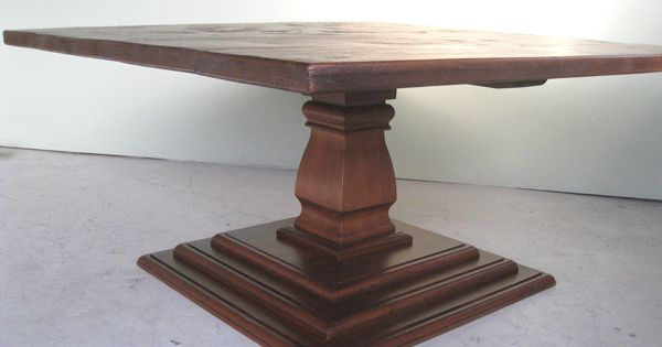 Large 62 Quot Square Dining Table With Pedestal Base Can Be