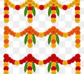 Toran Marigold Decorative Garland Marigold Merigold Garland Png And Vector With Transparent Background For Free Download Flower Garlands Watercolor Flower Illustration Flower Illustration