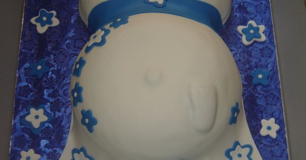This Was My First Attempt Of A Pregnancy Belly Baby Shower