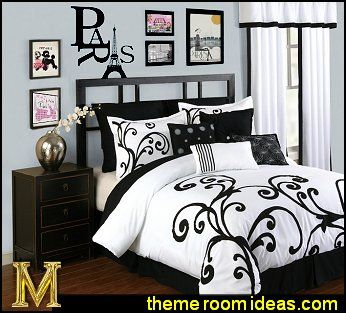 Eiffel Towet Themed Bedroom For S