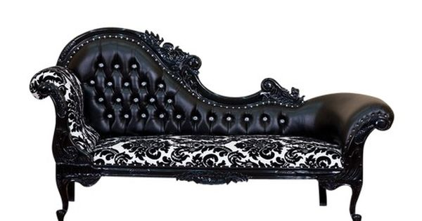 The harlow chaise lounge from haunt furniture in love for Black and white damask chaise lounge