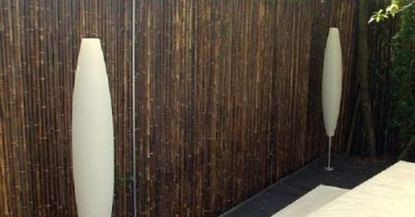 cloture en bambou noir naturel dotu 2