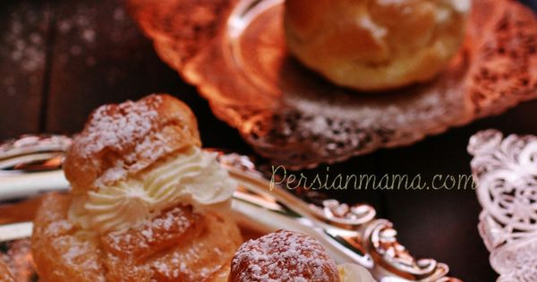 Noon khamei | persian cream puffs | Recipe | Persian, Pastries and ...