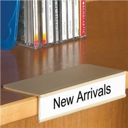 Clip On Shelf Label Holder Library Signage Office Labels