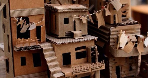 inspiration: cardboard favela (Brazilian slum dwellings ...
