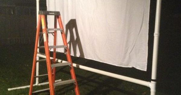 how to make a projector screen for outside