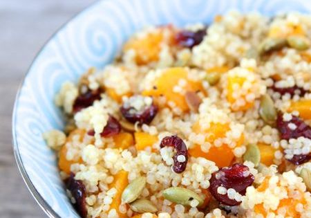 Quinoa Salad with Butternut Squash, Dried Cranberries & Pepitas from ...