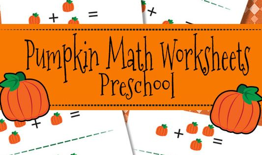 Pumpkin Math Worksheets for Preschool - Itsy Bitsy Fun