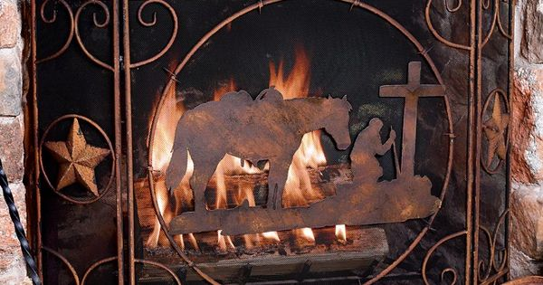 Praying Cowboy Fireplace Screen For The Home Pinterest Fireplace Screens And Western Decor