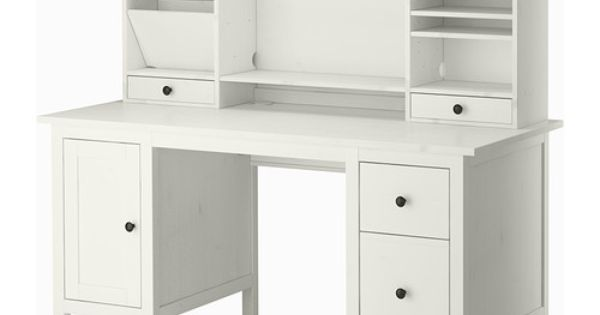 hemnes bureau avec l ment compl mentaire teint blanc hemnes compl mentaire et unit centrale. Black Bedroom Furniture Sets. Home Design Ideas