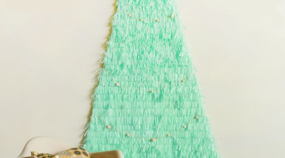 A fun holiday DIY for those with small spaces: tissue paper!