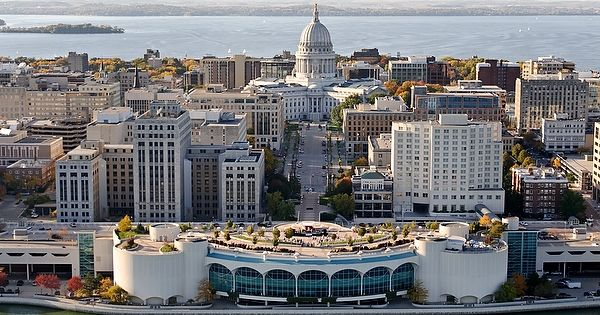 Monona terrace and the capitol make downtown almost too for The terrace madison wi