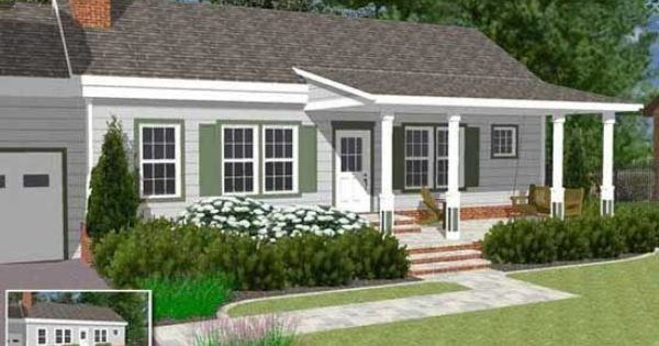 Roof Design Ideas: Great Front Porch Designs Illustrator On A Basic Ranch