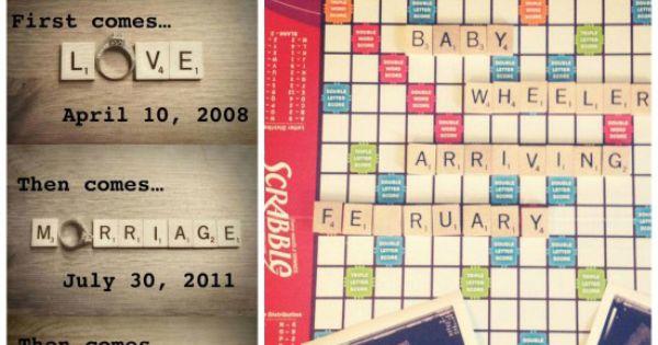 50 Creative Pregnancy Announcements – Scrabble Baby Announcement