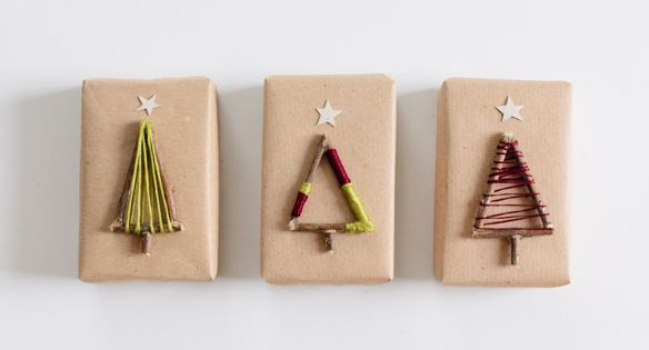 7. Twig Trees - 13 Darling DIY Gift Toppers ... | All