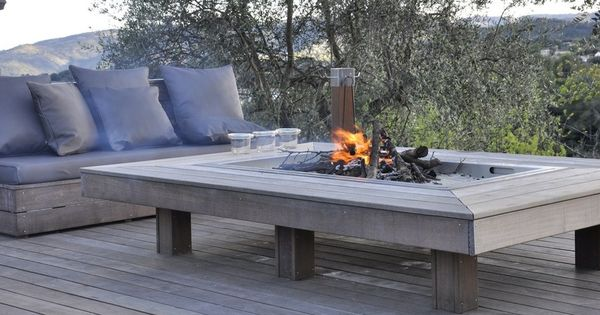 Table feu mobilier salon de jardin outdoor la gamme for Mobilier de jardin terrasse
