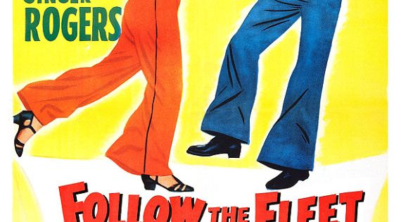 Fred Astaire Ginger Rogers - Follow The Fleet - Movie Musical Poster
