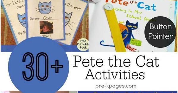 pete the cat activities kindergarten activities and cat