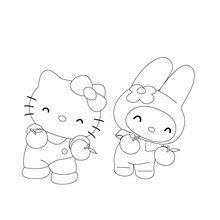 Hello Kitty Coloring Pages Hello Kitty With Her Umbrella Hello Kitty Colouring Pages Hello Kitty Coloring Kitty Coloring