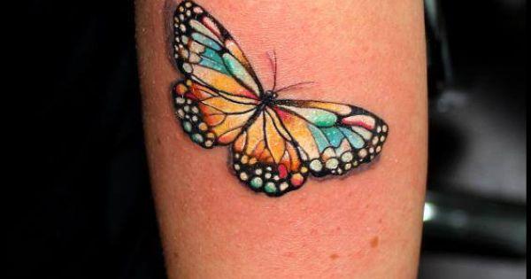 Butterfly tattoo by anabi tatu tattoo pinterest for Top tattoo victoria tx