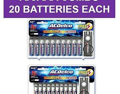 Acdelco Aa And Aaa Batteries Alkaline Battery 20 Count Each Pack 20 Each Size 19 08end Date Aug 08 15 15buy It Now For Alkaline Battery Batteries Acdelco